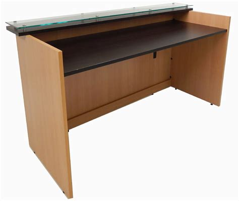 custom standing desk custom standing height glass top reception desk series 6