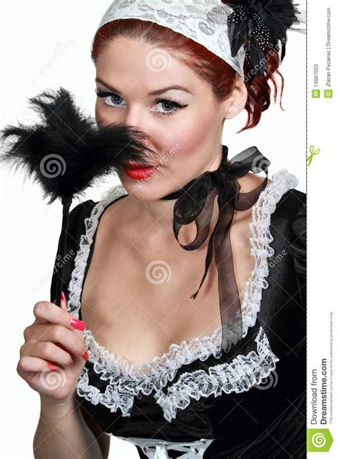 french maid hairstyles girl in french maid stock photos image 14897053