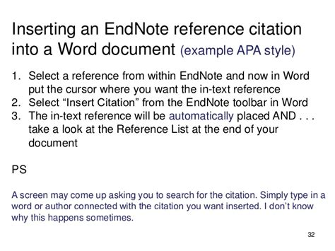 format of footnotes apa endnote really quick