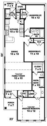 Narrow Lot Ranch House Plans by Best 25 Narrow House Plans Ideas On Pinterest Narrow