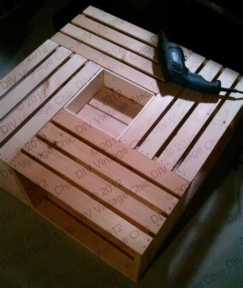 Wine Crate Coffee Table Diy Diy Vintage Chic Vintage Wine Crate Coffee Table