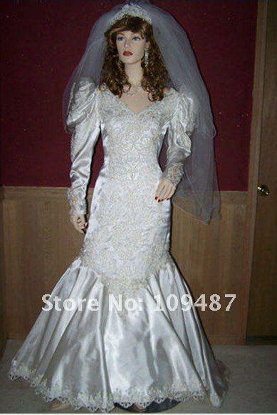 Brautkleider 80er Stil by Vintage 80 S 90 S Satin Mermaid Style Wedding Dress W