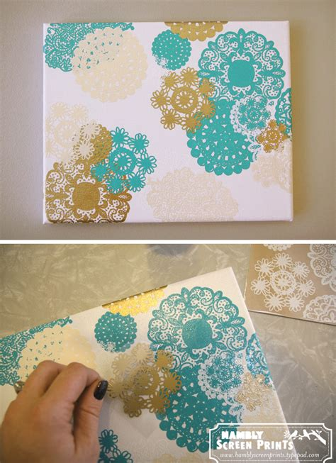 canvas craft projects 30 diy doily crafts oh my creative