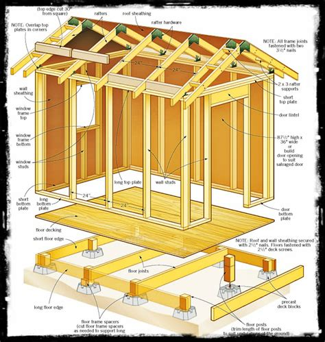 Garden Shed Plans 8x12 by Storage Shed Plans 8 X 12 Shed Plans Shed Diy Plans
