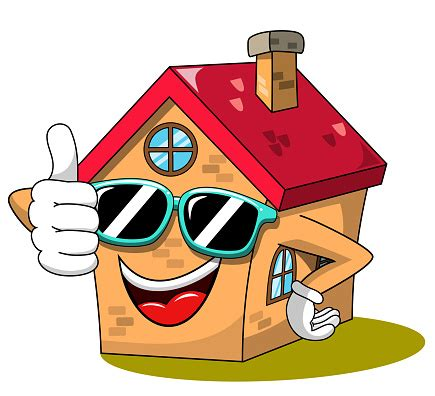 happy house cartoon funny character thumb  cool