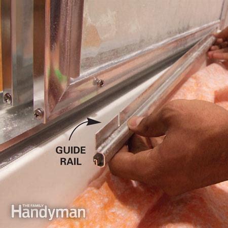 How to adjust sliding shower doors the family handyman