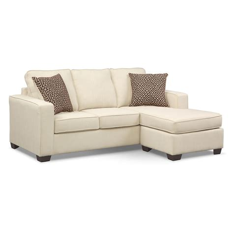 Sofa With A Chaise Lounge Sterling Innerspring Sleeper Sofa With Chaise Beige American Signature Furniture