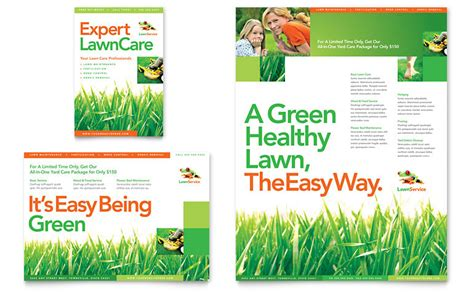 lawn maintenance flyer ad template word publisher