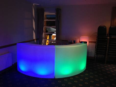 led bar cocktail event bars