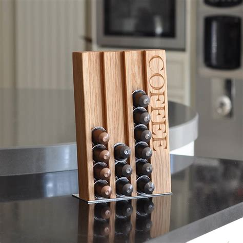 Coffee Pod Rack by Personalised Oak Coffee Pod Rack By The Oak Rope Company