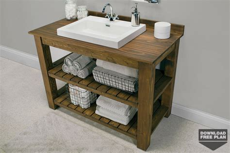 free bathroom vanity plans rustic bathroom vanity kreg tool company