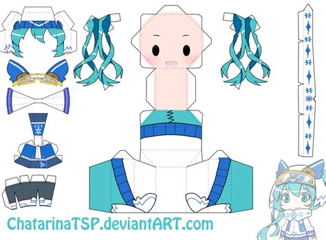 Snow Miku Papercraft - snow miku 2016 papercraft by chatarinatsp on deviantart