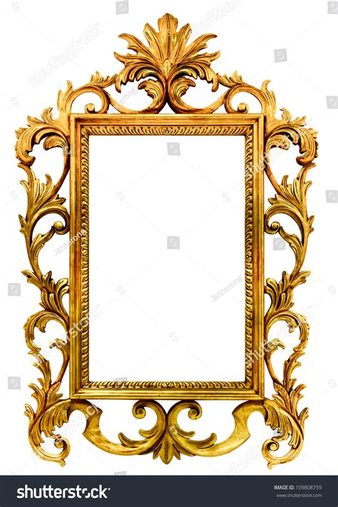 home design gold version high resolution baroque style vintage wood stock photo