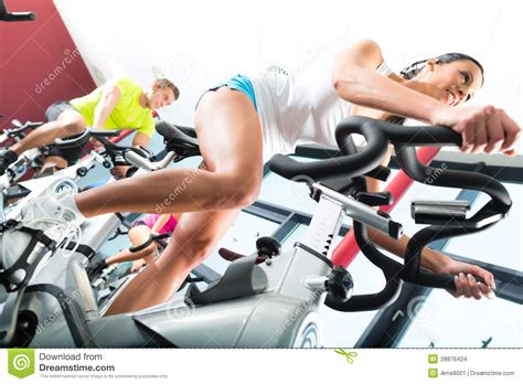 Spinning Bike Sport Id 9 2n spinning in the fitness stock images