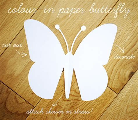 Paper Butterfly Craft - paper butterfly template
