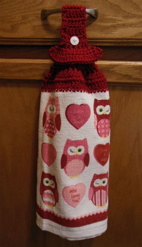 Crochet Kitchen Towel Topper by Crocheted Hanging Towels Blythe Musings