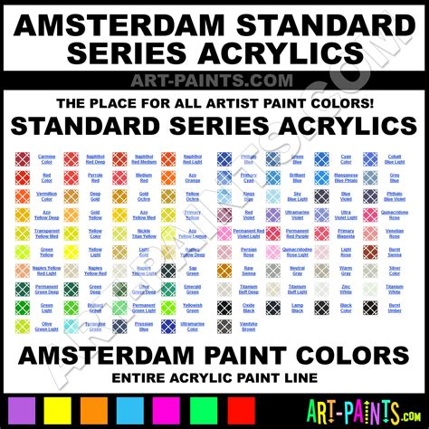 amsterdam standard series acrylic paint colors amsterdam standard series paint colors