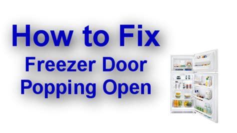 Door Stopper by Freezer Door Pops Open When You Close The Refrigerator