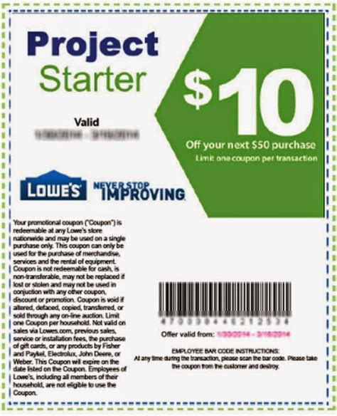 printable coupons lowes home improvement coupons