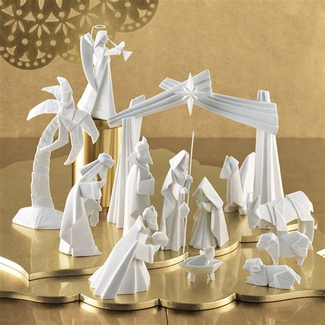 Porcelain Origami Nativity Set - porcelain origami nativity set gump s