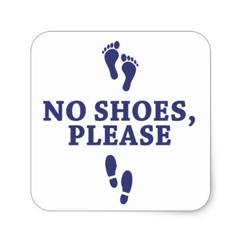 with no shoes no shoes with sticker zazzle