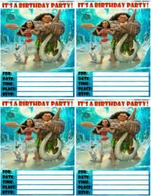 moana invitations free printables for a princess birthday party