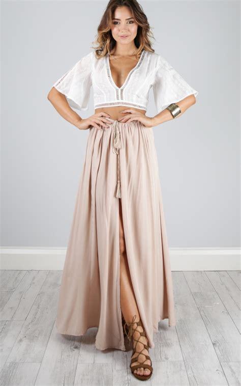 beige maxi skirt dress ala