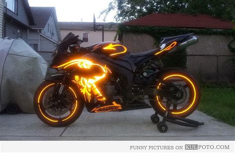 cool motorcycle paint glowing motorcycle paint