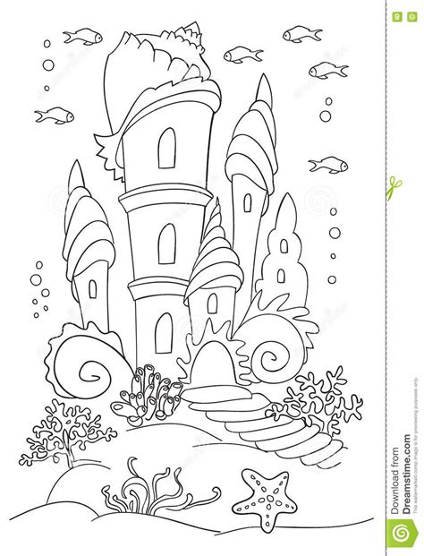 underwater mermaid coloring pages underwater castle coloring pages