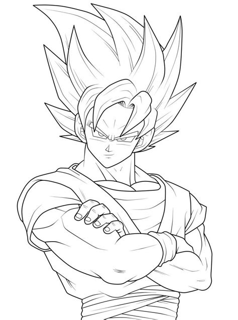 Sketches To Color by Coloring Pages Goku Coloring Pages