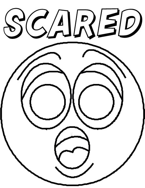Free Coloring Pages Of Faces Of Feelings Emotions Coloring Page
