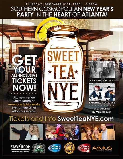 sweet tea new year s eve at the stave room novare events