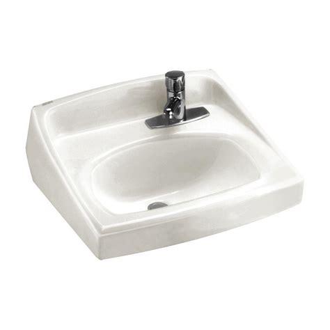 american standard bathroom sink faucets american standard lucerne wall hung bathroom sink in white