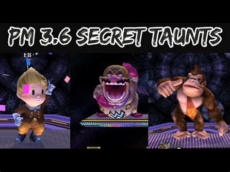 project m 3.6 | new secret taunts + wario man taunts