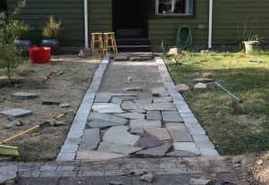 Slate Rock Patio Better Remade Flagstone Walkway Better Remade