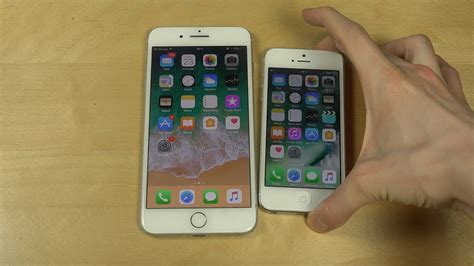 iphone 7 plus ios 11 beta 2 vs iphone 5 ios 10 which is