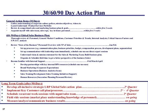 sales manager plan template 30 60 90 day plan template sales manager search