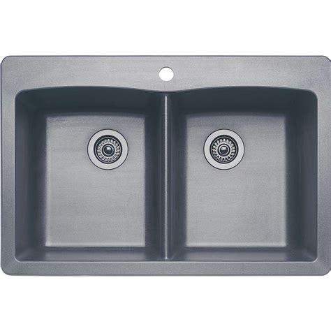 blanco granite sink metallic grey blanco dual mount granite composite 33 in 1