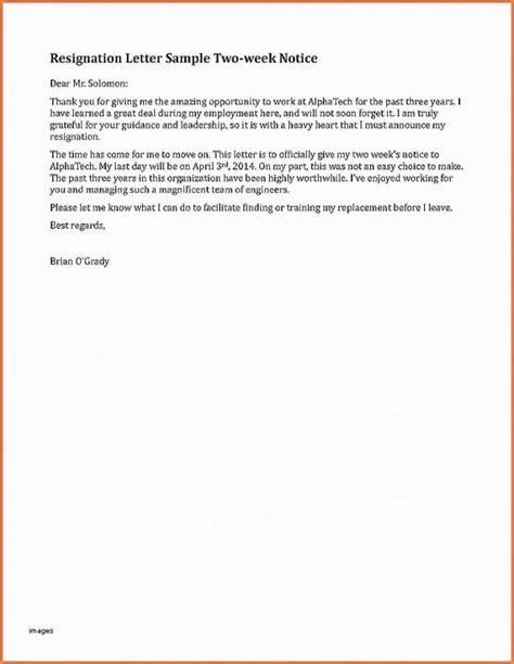 exle of resignation letter 2 resignation letter fresh sle resignation letter 1 1207