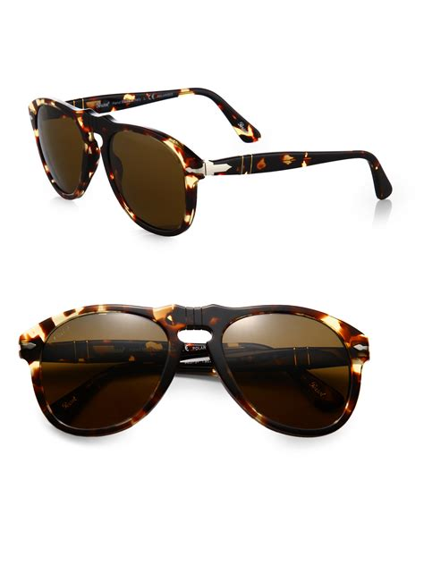 Keyhole Sunglasses by Persol Retro Keyhole Sunglasses In Brown For Lyst