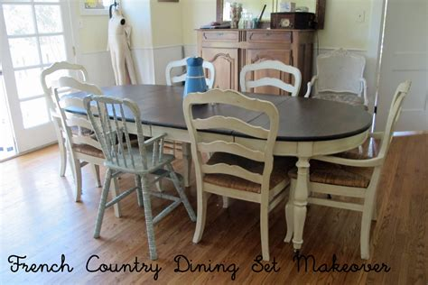 Ethan Allen Dining Room Table Sets by French Country Glazed Creamy Painted Dining Set Mini
