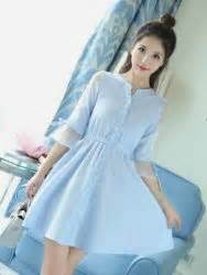 Wanita Line Stripe toko baju wanita dress korea cantik dress pesta