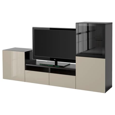 besta storage combination with doors best 197 tv storage combination glass doors black brown
