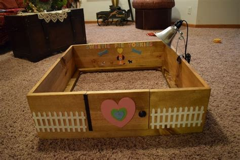 yorkie whelping diy dogs whelping birthing box puppies make your own