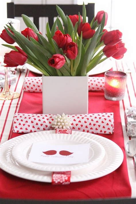 Valentines Day Table Decor | amazing romantic table centerpiece decorating ideas for