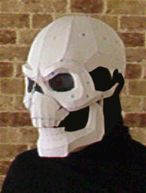 Papercraft Mask - project cutter projects skeletor mask