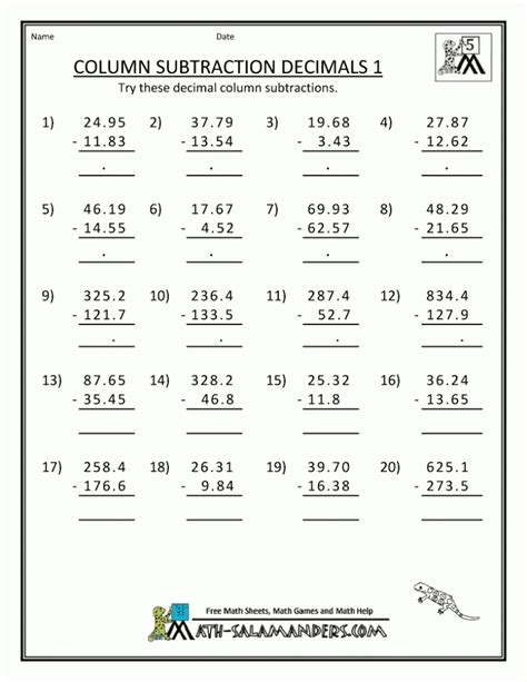 Grade Math Printable Worksheets by 5 Grade Math Worksheets Kelpies