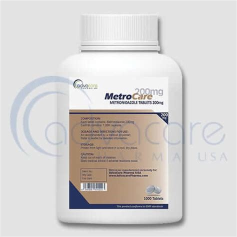Metronidazol 500mg 10 S metronidazole tablets advacare pharma
