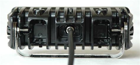 6 led light bar 6 quot led light bar 2 400 lumen flood beam single