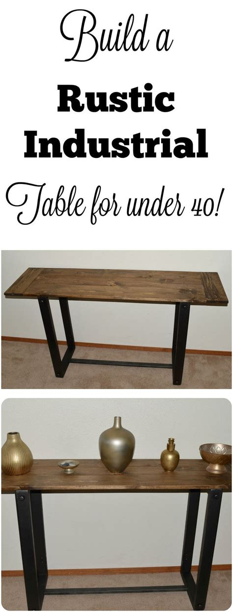 rustic farmhouse entry table diy how to build a console buffet entry table sofa